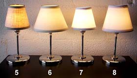 Restaurant Table Lamps: These shades will work with most of the restaurant table lamps shown below.,Lighting
